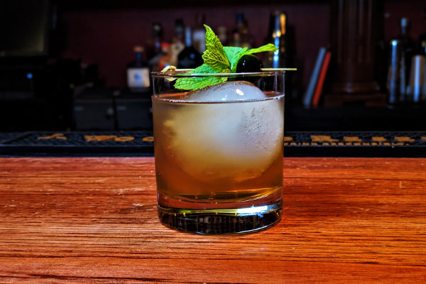 Tobacco Old Fashioned Cocktail
